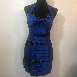 Bebe royal Blue bodycon Dress SZ M
